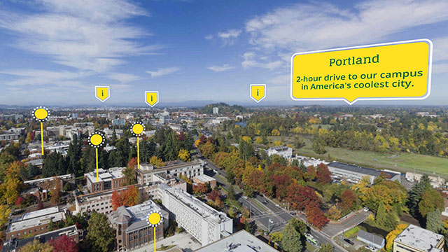 UO360 - Campus Overview Map