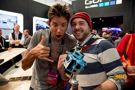 GoPro's CEO Nick Woodman with 360 Labs' Brad Gill