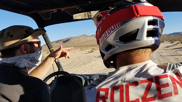 Ken Roczen (right) and 360 Labs' Matt Rowell (left)
