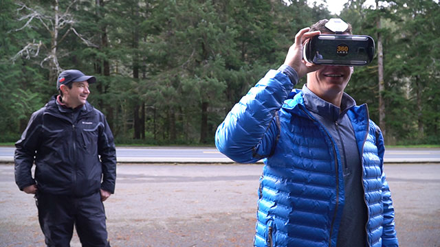 Columbia Sportswear's Director of Toughness checks out VR