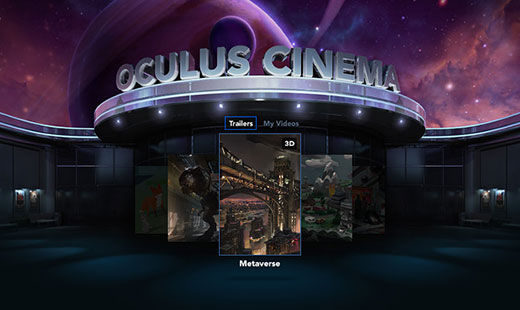 Oculus Cinema Main Menu