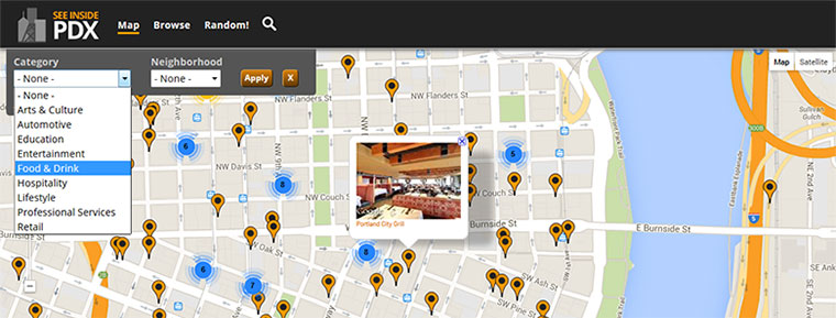 See Inside PDX Map Shot